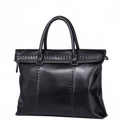SAMMONS Męska torba tote z wyszywanym wzorem Czarna