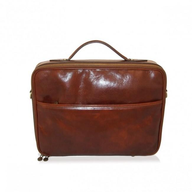 Elegancka torba na laptopa Brąz