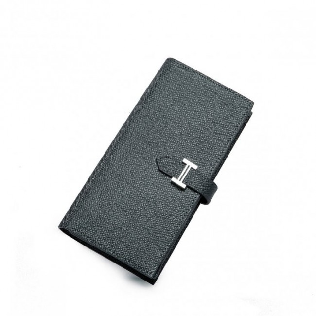 Elegancki skórzany portfel Grafitowy