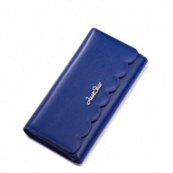 JUST STAR szykowny portfel skórzany Niebieski