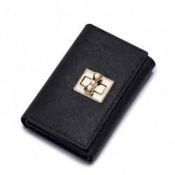 NUCELLE Damski portfel w jednolitym kolorze Czarny