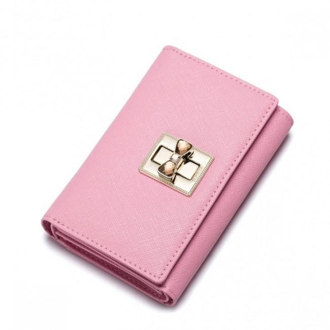 NUCELLE Damski portfel w jednolitym kolorze  Różowy