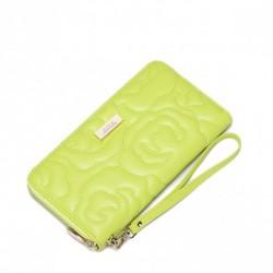 Klasyczny damski portfel Żółty