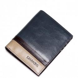 SAMMONS Krótki męski portfel Niebieski