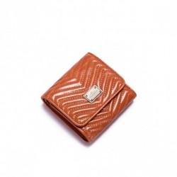 Niewielkich rozmiarów damski portfel Pomarańczowy