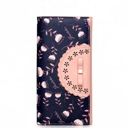Damski portfel w nowoczesnym stylu Niebieski