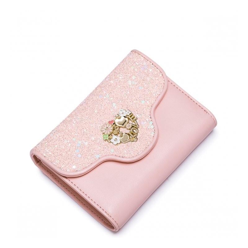 1f8e7151e23e5 JUST STAR Dziewczęcy portfel ze skóry ekologicznej Różowy różowy ...