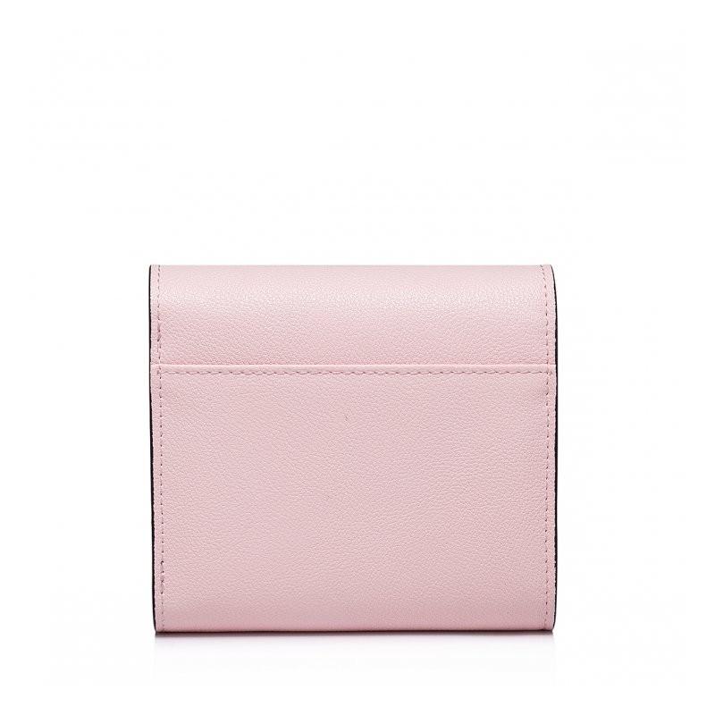e66ac81fdf6f3 Krótki damski portfel Różowy różowy skóra bydlęca Nucelle Portfele