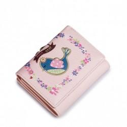 Krótka dziewczęca kopertówka Różowa