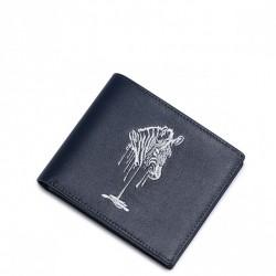 Krótki wielofunkcyjny męski portfel Niebieski