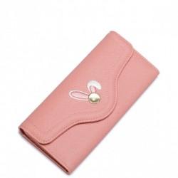 Dziewczęcy portfel z motywem królika Różowy