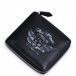 SAMMONS Krótki portfel z motywem militarnym Czarny